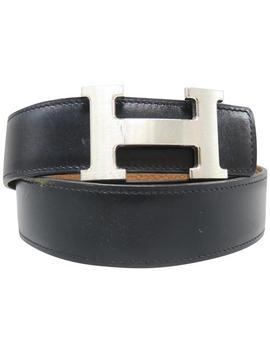 Brown Reversible H 32mm Belt by Hermès