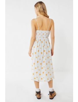 Uo Ember Smocked Midi Dress by Urban Outfitters