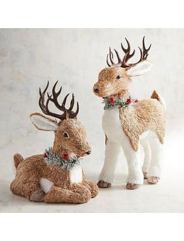 Natural Deer With Faux Fur by Pier1 Imports