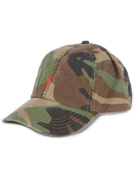 Camo Canvas Baseball Cap by Polo Ralph Lauren