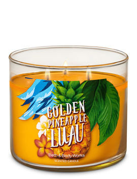 Golden Pineapple Luau   3 Wick Candle    by Bath & Body Works