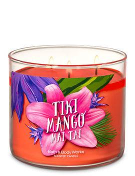 Tiki Mango Mai Tai   3 Wick Candle    by Bath & Body Works