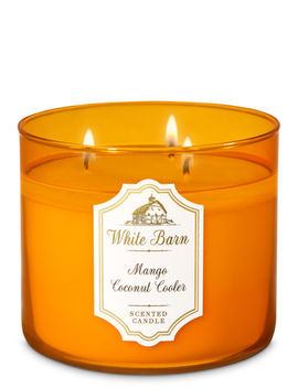 Mango Coconut Cooler   3 Wick Candle    by Bath & Body Works