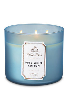 White Barn   Pure White Cotton   3 Wick Candle    by White Barn