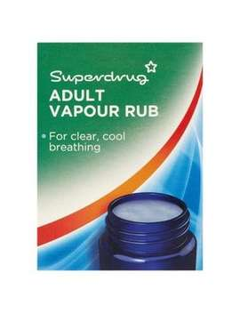 Superdrug Adult Vapour Rub 50g by Superdrug