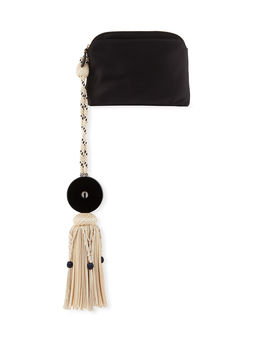 Large Satin Tassel Wristlet Clutch Bag by The Row