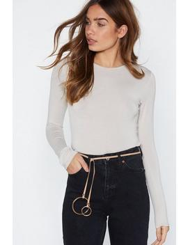O No You Didn't Tie Belt by Nasty Gal