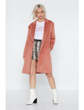 Forget What You Belt Longline Coat by Nasty Gal