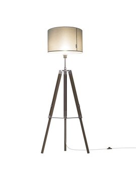"Tomons Studio Style 67"" Wood Tripod Floor Lamp, Gray Linen Shade  Fl2003 by Tomons"