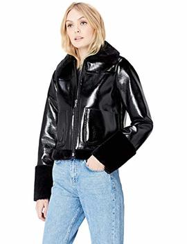 Find Women's Jacket In Vinyl And Faux Fur by Find.