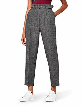 Find Women's Belted Check Trousers by Find.