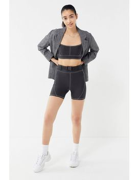 Uo Kit Belted Contrast Stitch Bike Short by Urban Outfitters