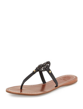 Mini Miller Leather Flat Thong Sandals by Tory Burch