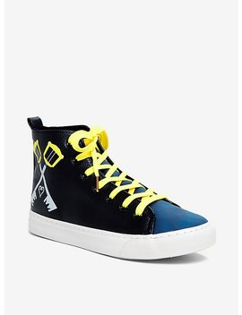 Kingdom Hearts Sora Keyblade Hi Top Sneakers by Hot Topic
