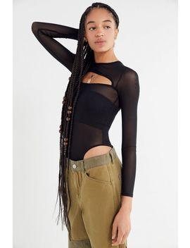 I.Am.Gia Gemini Mesh Cut Out Bodysuit by I.Am.Gia