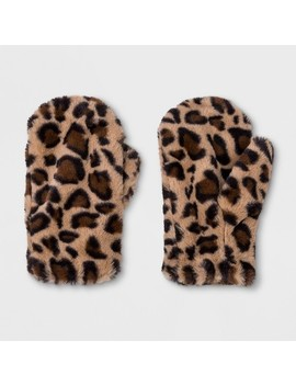 Women's Faux Fur Mittens   Wild Fable™ Brown by Shop This Collection