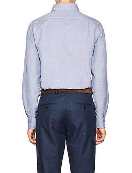 Slim Houndstooth Cotton Linen Shirt by Ralph Lauren Purple Label