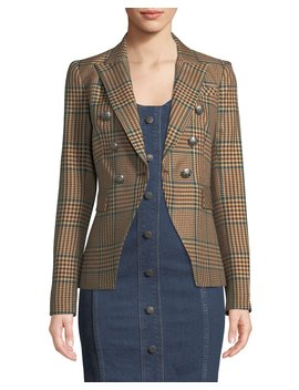 Miller Single Button Plaid Jacket by Veronica Beard