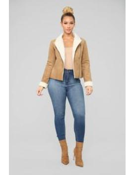 Penelope Aviator Jacket   Camel by Fashion Nova