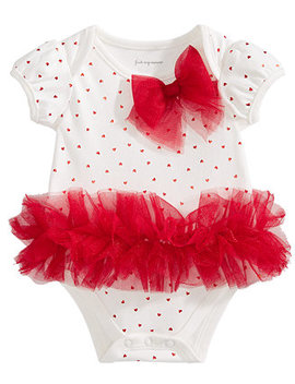 Baby Girls Tulle Tutu & Bow Bodysuit, Created For Macy's by First Impressions