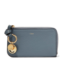 Alphabet Textured Leather Wallet by Chloé
