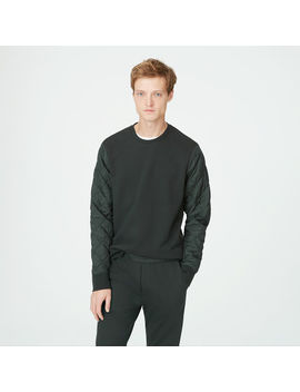 Quilted Sleeve Sweatshirt by Club Monaco