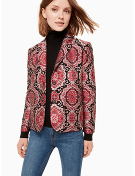 Medallion Jacquard Jacket by Kate Spade