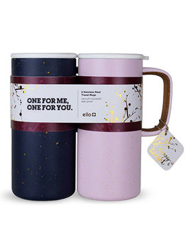 2 Pc. Campy Stainless Steel Travel Mug Set by Ello