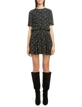 Constellation Print Minidress by Saint Laurent