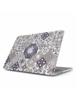 Burga Hard Case Cover Compatible With Macbook Pro 15 Inch Case Release 2012 2015, Model: A1398 Retina Display No Cd Rom White And Gold Marrakesh Mosaic by Burga