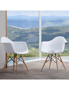 Siena Modern Dining Chairs With Wood Legs By Corvus (Set Of 2) by Corvus