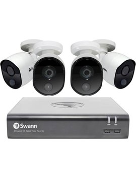 4580 8 Channel, 4 Camera Indoor/Outdoor Wired 1080p 1 Tb Dvr Surveillance System by Swann