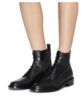 Women's Black 'cabria' Leather Combat Boots by Vince