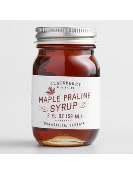Mini Blackberry Patch Maple Praline Syrup by World Market