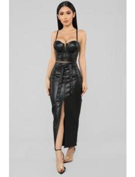 Dare Devil Skirt Set   Black by Fashion Nova