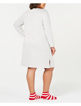 Plus Size Sleepshirt And Sock Set, Created For Macy's by Charter Club
