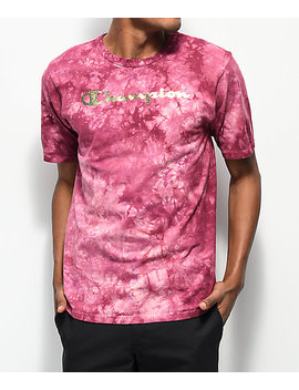 Champion Heritage Dye Washed Berry T Shirt by Champion