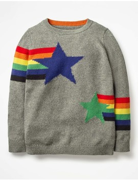 Graphic Crew Sweater by Boden
