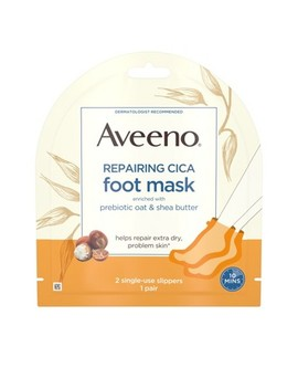 Aveeno Repairing Cica Moisturizing Foot Mask With Oat 1 Pair by Aveeno
