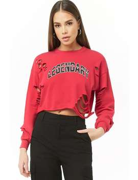 Distressed Legendary Graphic Top by Forever 21