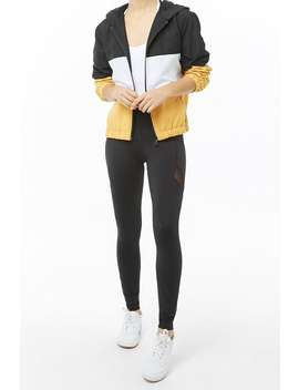 Active Mesh Inset Leggings by Forever 21