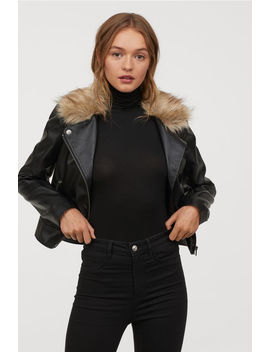 Biker Jacket With Faux Fur by H&M