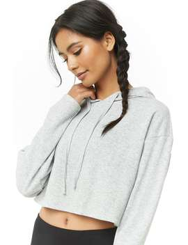 Active Cropped Fleece Hoodie by Forever 21