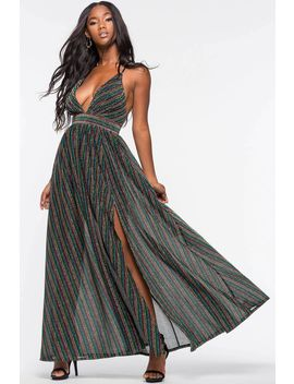 Strobe Light Maxi Dress by A'gaci
