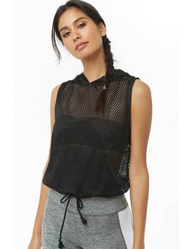 Active Mesh Knit Hooded Top by Forever 21