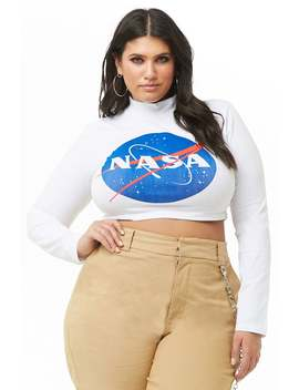 Plus Size Nasa Graphic Tee by Forever 21
