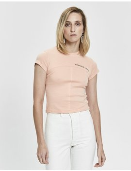 Lapped Baby Tee In Creamsicle by Eckhaus Latta