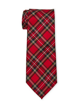 Red Plaid Holiday Tie by Knotty & Nice
