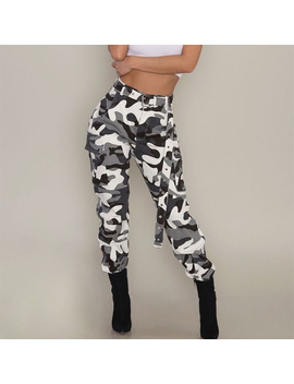 Fashion Womens Camo Cargo Trousers Casual Pants Military Army Combat Camouflage Jogger Pants Plus Size 3 Xl Drop Shipping by Thefound