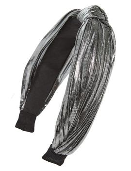 Knot Metallic Pleated Headband by Cara